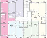 Подъезд 4, этажи 1-9
